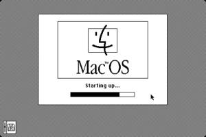 Pantalla de carga de Mac OS