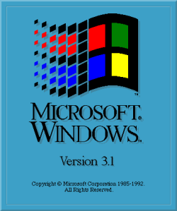 Pantalla de carga de Windows 3.1