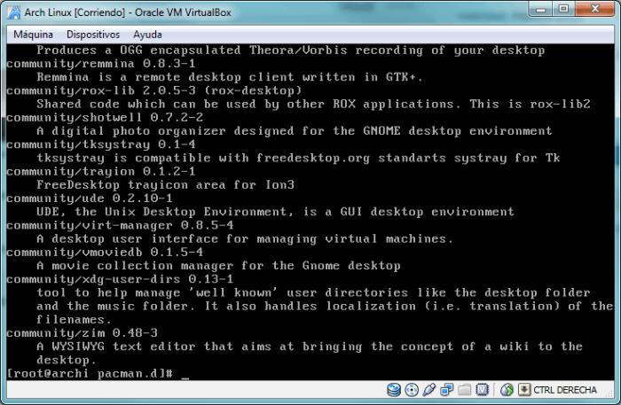 Búsqueda de la palabra desktop en los repositorios