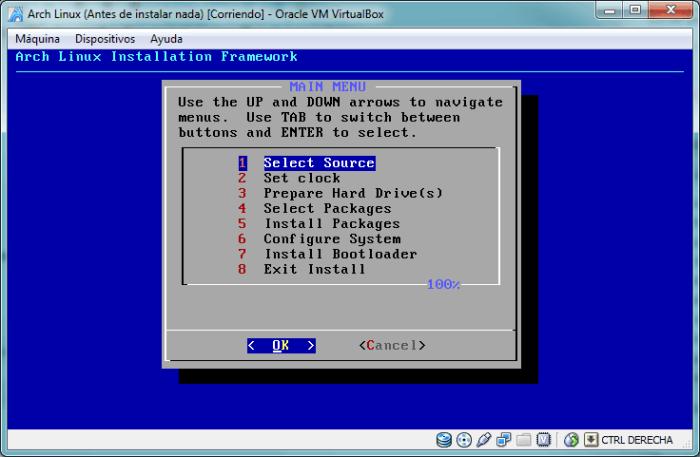 Los 8 pasos para completar la instalación de Arch Linux