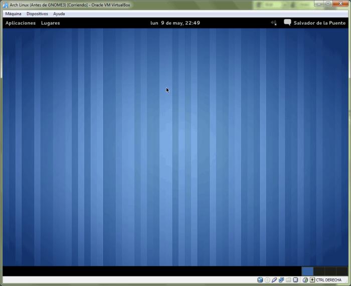 GNOME 3 en modo fallback